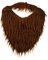Jacobson Hat Company Men's Beard with Elastic, Brown, One Size