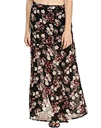 Floral Printed Skirt With Slits 30