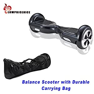 EROVER Two Wheels Smart Self Balancing Scooters Electric Drifting Board Personal Adult Transporter with LED Light (Black 0)
