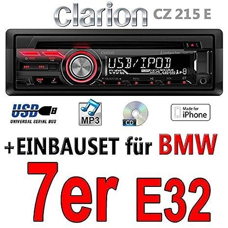 BMW série 7 e32-clarion cZ215E-autoradio mP3/uSB avec kit de montage