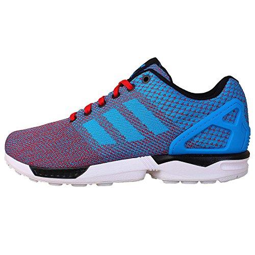 Adidas Men'S Zx Flux Weave, Blue/Red/Black/White, 8.5 M Us
