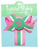 Mud Pie Initial Baby Initial Baby Personalized Pacifier Clip, Letter A