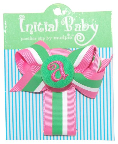 Mud Pie Initial Baby Personalized Pacifier Clip - 1