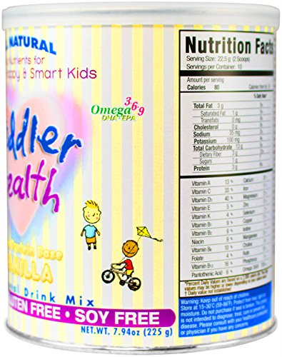 Toddler Health Nutritional Drink Mix, Rice Vanilla Vegan, 7.94 Ounce
