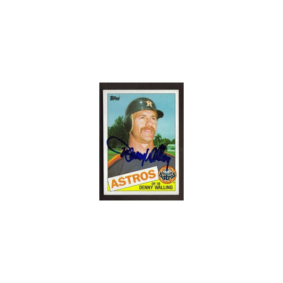 1985 TOPPS #382 DENNY WALLING ASTROS AUTO SIGNED CARD JSA STAMP B Sports Collectibles