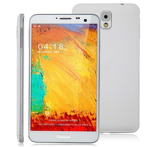 Newisland N9000 Quad Core 1.2ghz 5.7inch IPS Capacitive Touch Screen 3g Smartphone Android Os 4.2.2 with At&t, T-mobile, H20 White, Pack of 2