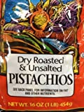Trader Joes Dry Roasted and Unsalted Pistachios 1lb