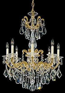 Good Choice Schonbek La Scala Gold 8 Light Chandelier