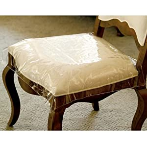 com clear vinyl chair protectors set of 2 clear fits chairs
