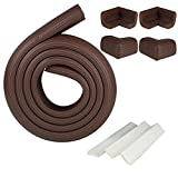 Monkeybrother 2m Baby Child Kids Safety Safe Table Desk Edge Cushion Protector w/ Tape + 4 Corner Guards (coffee)