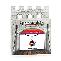 Weave Got Maille Rainbow Whirlybird Chain Maille Necklace Kit, That\'s How I Roll