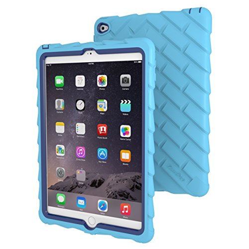 Apple iPad Air 2 Drop Tech Light Blue Gumdrop Cases Silicone Rugged Shock Absorbing Protective Dual Layer Cover Case (Best Keyboard Case For Ipad Air 2 compare prices)