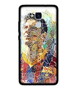Chnno 2d messi Printed Back Cover For Huawei Honor 5C No- 1684