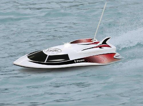 RC-Boot-Speedboot-Rennboot-Licht-RTR-ferngesteuert-inkl-AKKU-und-Batterien-einfach-zu-steuern