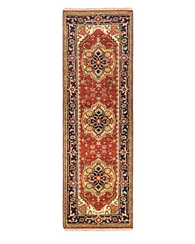 Hand-Knotted Serapi Heritage Wool Rug, Dark Copper, 2' 7 x 8' Runner