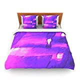 "Kess InHouse Oriana Cordero ""Suenos en Purpura"" Purple Lavender King Fleece Duvet Cover, 104 by 88-Inch"