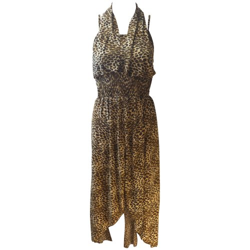 Marc Gold Women'S Leopard Printed Dress (Large)
