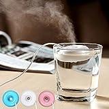 e-community 超音波 式 卓上 USB 加湿器 (全3色) 低動作音 で オフィス にも 最適 お手入れ要らずの おしゃれ な パーソナル 加湿 器 (ブルー)