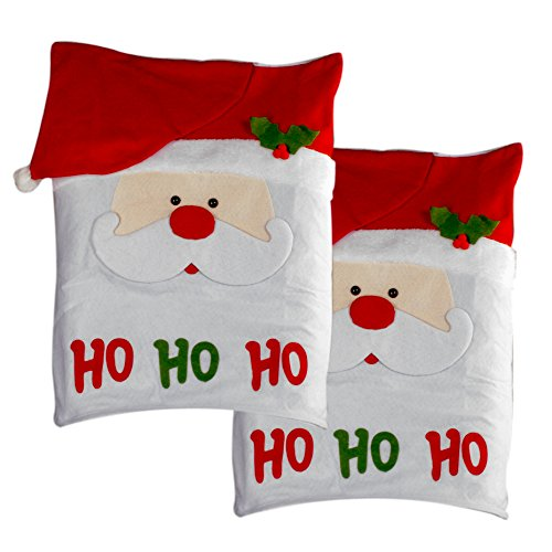 Christmas Chair Covers (Happy Santa, Set of 4)