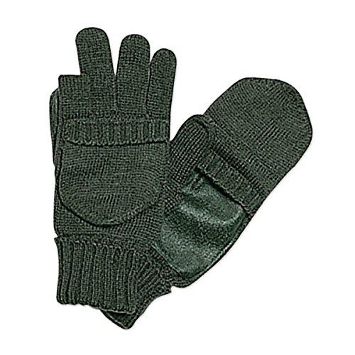 CBC guanti in lana con rinforzi in pelle e aperture per le dita per caccia pesca