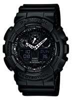 Casio - Ga-100-1a1er - G-shock - Montre Homme - Quartz Analogique Et Digitale - Cadran Noir - Bracelet En Rsine Noir from Casio