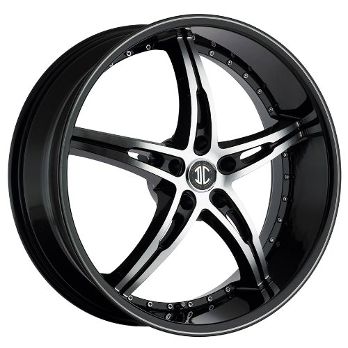 2CRAVE 14 Wheels 22X8.5″ SOLID BLACK LIP WHEELS