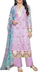 VIDA Women's Cotton Salwar Suit Material (Purple)