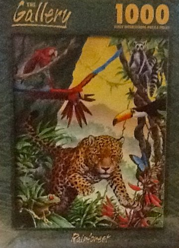 The Gallery - Rainforest Puzzle 1000 Piece The Gallery Cheetah Leopard Parrot Frog Tucan