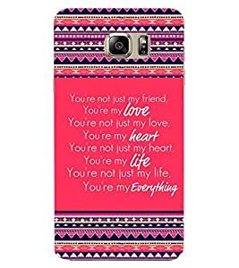 ColourCraft Quote Design Back Case Cover for SAMSUNG GALAXY NOTE 6