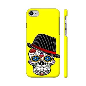 Colorpur Hipster Modern Skull On Yellow Designer Mobile Phone Case Back Cover For Apple iPhone 7 | Artist: WonderfulDreamPicture