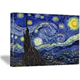 Wieco Art Canvas Prints for Van Gogh Paintings Artwork Starry Night Modern Wall Art for Home Decoration 12x16inch