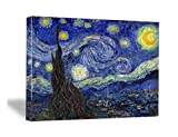 Canvas Prints, Stretched and Framed Art work, Canvas Print Classical Van Gogh Artwork Paintings Reproductions Starry Night Picture on Canvas, Modern Wall Art for Wall Decor and Home Decoration, Ready to Hang 12 by 16inch P1XK3040