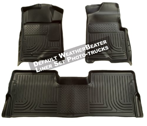 Husky Liners 98711 WeatherBeater Black Custom Fit Front and Second Seat Floor Liner Set