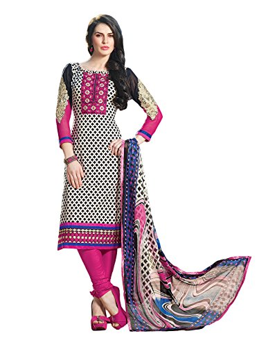 Adah Un-Stitched Cotton Salwar Kameez- 515-3301A (multicolor)
