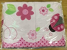 Crib Bumper 4 Piece LadyBugs Safe Soft in Pink by Sumersault