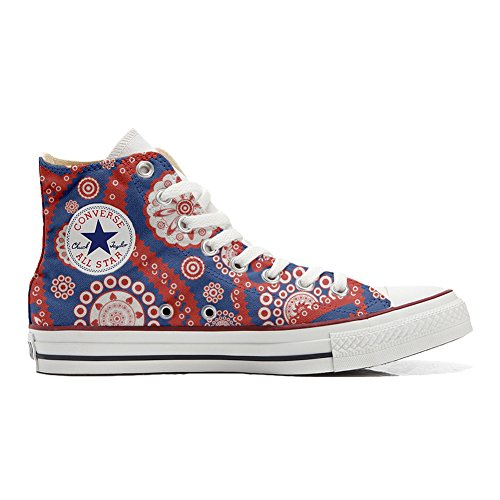 Converse All Star Hi chaussures coutume (produit artisanal) Vintage Paysley