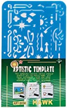 10 X 16 Inch Plastic Artistic Template With Variety Of Shapes And Designs
