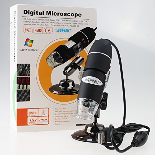Agptek® Usb 800X Digital Microscope Endoscope 2Mp 8 Led Compatible With Windows And Mac Os 10.5 Or Above For Micro-Measure Work