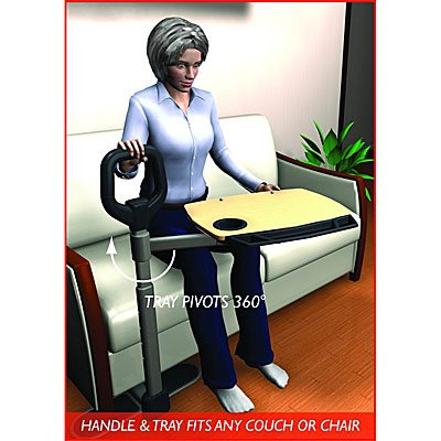 Able Life Able Tray – Multi-Use Bamboo Tray Pivots 360 Degrees + Ergonomic Safety Support Handle + Adjustable to fit most Chairs, Couches, & Lift Chairs + Lifetime Gaurantee