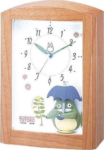 Rhythm citizen became my Neighbor Totoro clock Totoro R752N4RM752MN06 grain analog