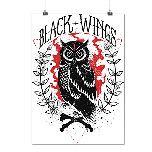black-and-wings-owl-wild-forest-matte-glossy-poster-a2-60cm-x-42cm-wellcoda