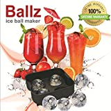 Sphere Ice Ball Maker - BallZ 4 pack - Ice cold summer fun! Cool down your drink, Heat up your life! Sexy. FREE E-book: