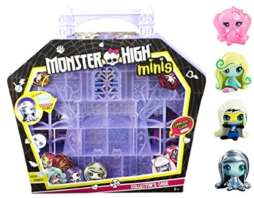 Monster High Minis Collector Case PLUS 3-Pack with Getting Ghostly Draculaura!