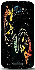 Snoogg Creative Artwork With Shiny Background Designer Protective Back Case Cover For HTC One S