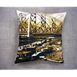 Which Kraft Cotton Canvas Old Ind 20 Cushion Cover- Multi Color, 40.64 Cm X 40.64 Cm