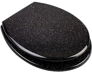 euroshowers glitter black toilet seat 81870. Black Bedroom Furniture Sets. Home Design Ideas