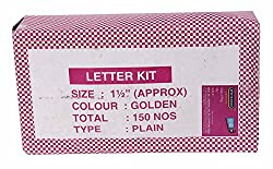 Handson Welcome Board Letters Kits 36 mm Golden (Pack of 150 Nos)