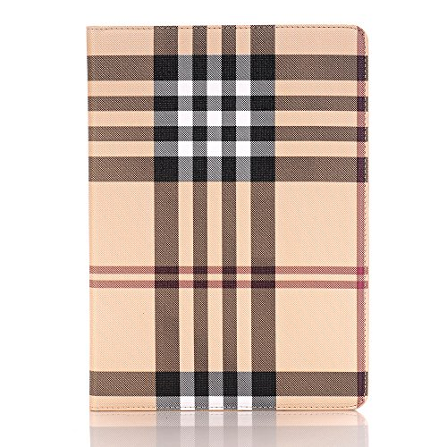 iPad Pro 9.7 Cover Case, XRPow Grid Pattern Design PU Leather Protective With Card Slots Feature Adjustable Kickstand For Apple iPad Pro 9.7 Inch 2016 Devices (White)