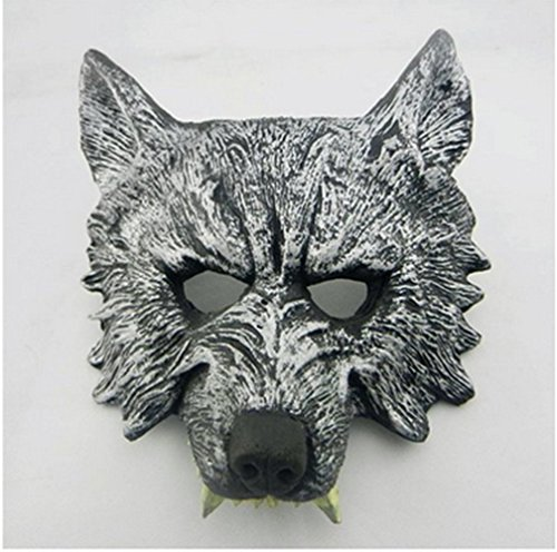 OM(TM) Halloween Creepy Latex Adult Wolf Mask and Gloves - Fancy Dress