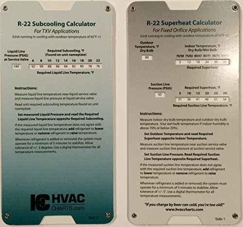 R22 Superheat Subcooling Calculator Charging Chart (R22 Charging Chart compare prices)